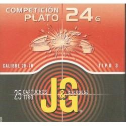 COMPRAR CARTUCHOS JG T-3 24GR COMPETICIÓN PLATO