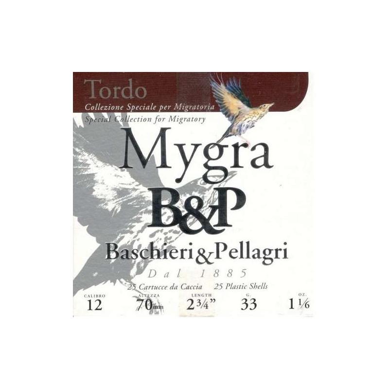 COMPRAR CARTUCHOS B&P MYGRA TORDO 33GR Nº 9,5