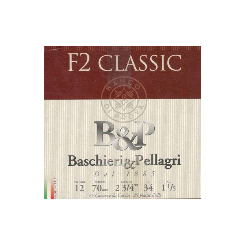 COMPRAR CARTUCHOS B&P F2 CLASSIC 34GR