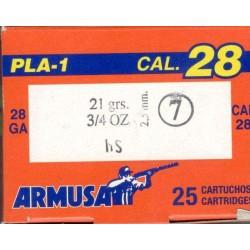 COMPRAR CARTUCHOS ARMUSA PLA-1 CALIBRE 28 21GR