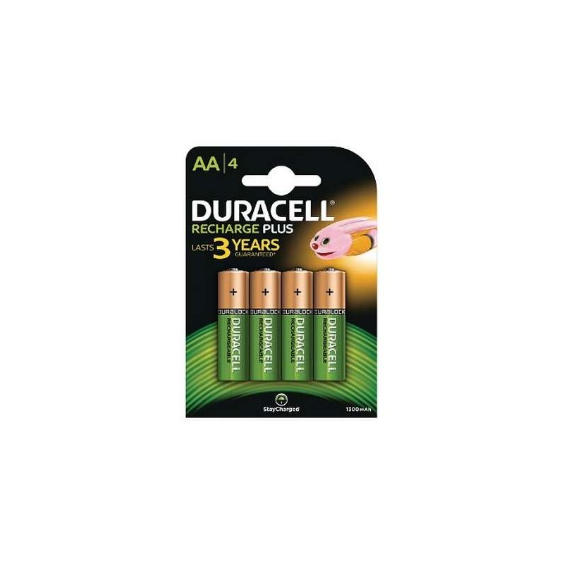 COMPRAR PILAS PILA DURACELL AA RECARGABLE PACK 4 UDS