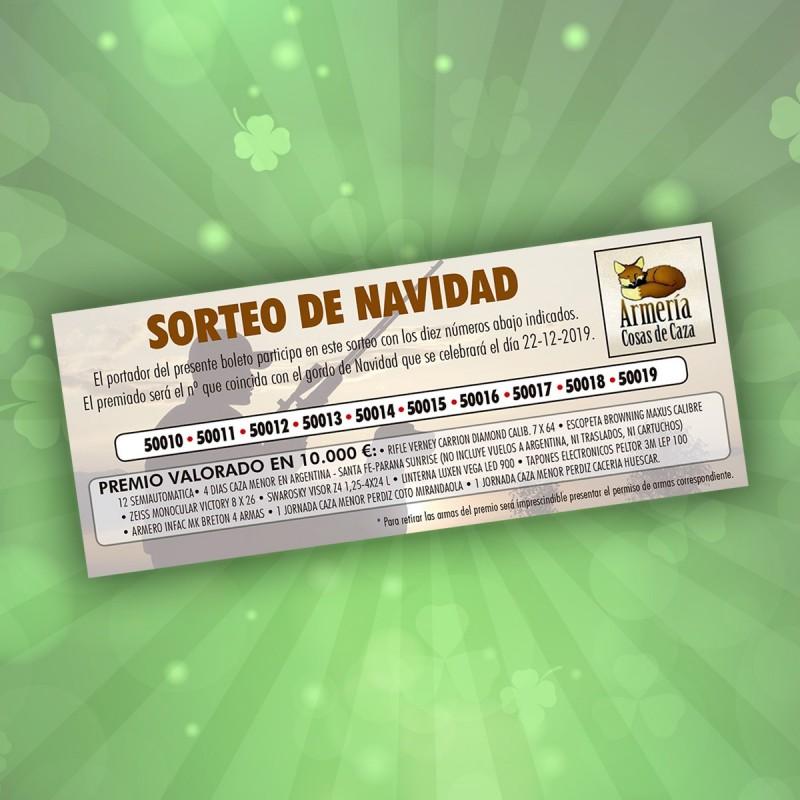 COMPRAR DESTACADOS Sorteo de Navidad 2019 Cosas de Caza