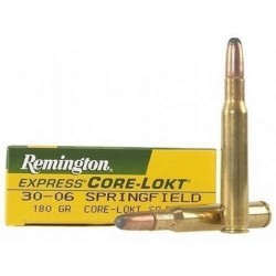 COMPRAR MUNICION METALICA REMINGTON CORE-LOKT 30-06 180GR PUNTA SP