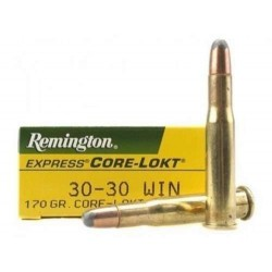 COMPRAR MUNICION METALICA REMINGTON CORE-LOKT 30-30 WIN 170GR PUNTA SP