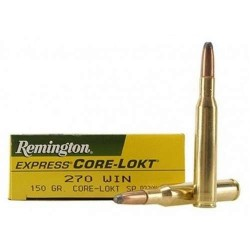 COMPRAR MUNICION METALICA REMINGTON CORE LOKT CAL 270W 150GR
