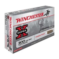COMPRAR MUNICION METALICA WINCHESTER BALA POWER POINT 300 WM 150GR