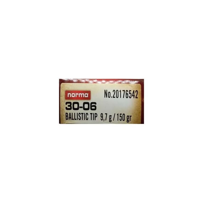 COMPRAR MUNICION METALICA NORMA 30-06 BALLISTIC TIP 150GR
