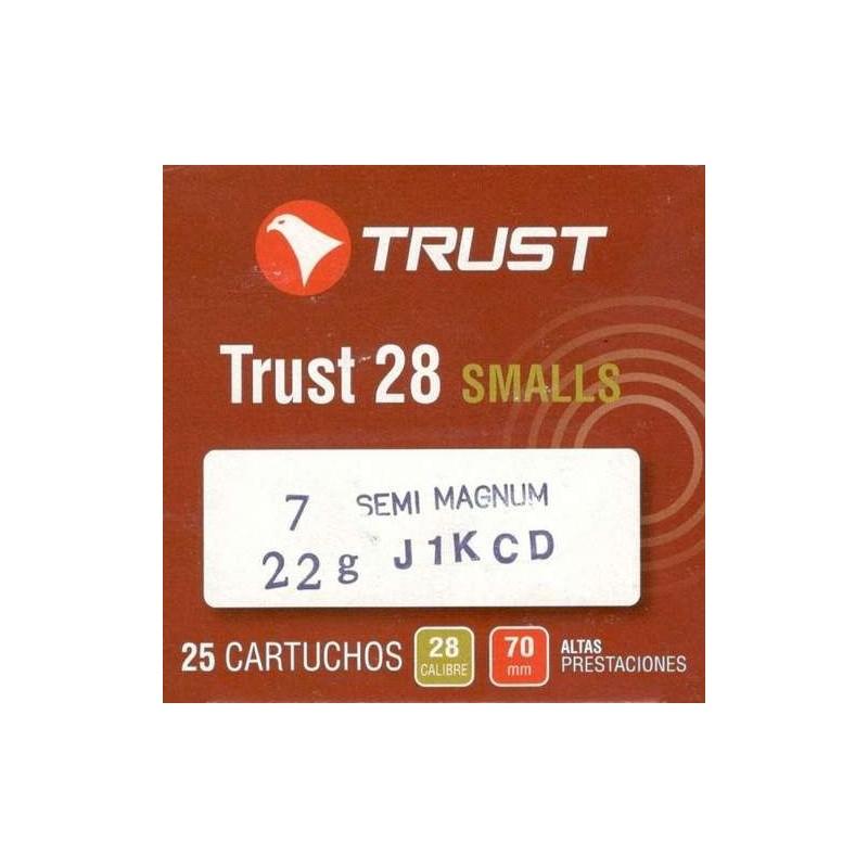 COMPRAR CARTUCHOS TRUST CALIBRE 28 SEMI- MAGNUM 22 GR Nº 7