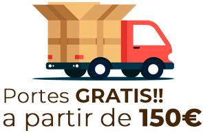 Transporte GRATIS a partir de 150€
